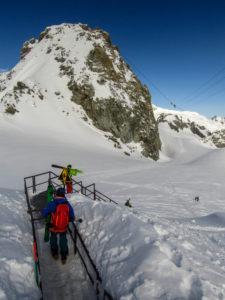 Scendendo verso il ghiacciaio: l'avventura ha inizio!