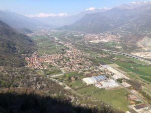 Veduta sulla piana della Valle Susa